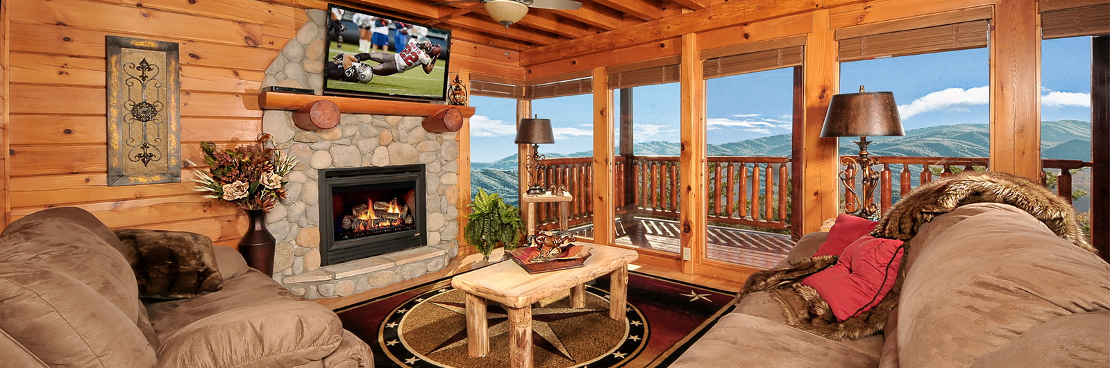 between log bathrooms located luxury conveniently usa gatlinburg the pigeon beds rental pin com and is from in cabin fantasy forest has king for sevierville vrbo tn size a sale full vacation cabins forge